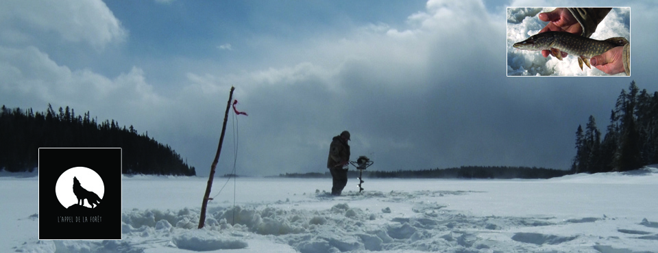 Ice Fishing in the Gouin Reservoir
