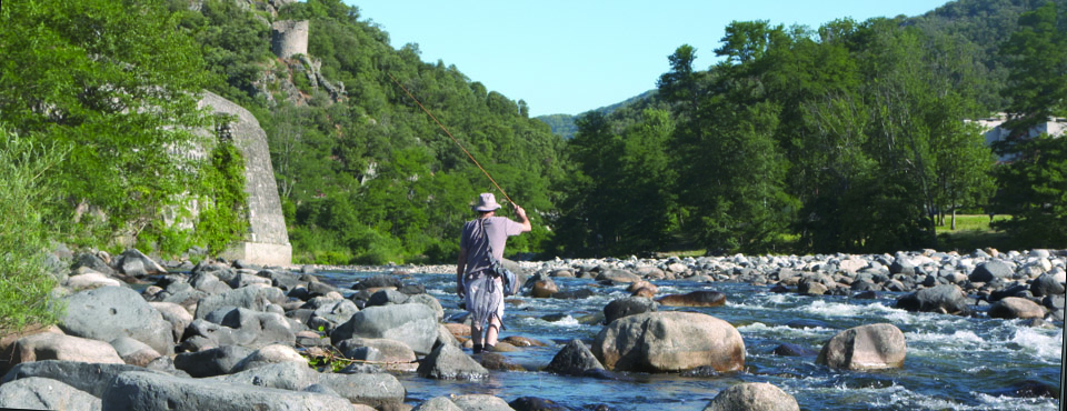 Fly fishing no kill in Ardèche